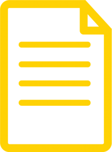 An icon for depicting a document, folded page image