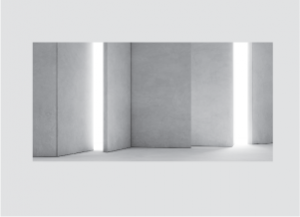 Operable (movable) wall partition in white.